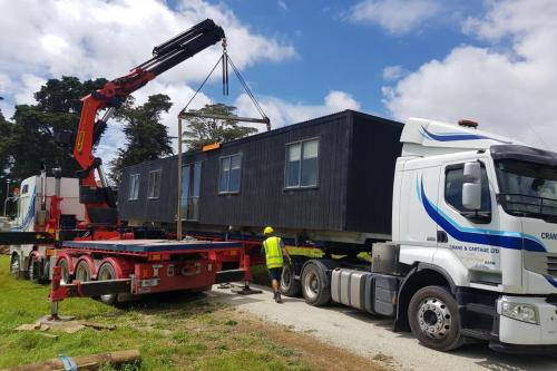 15m cabin from Tuakau to Waiwera