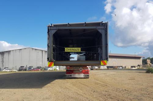 24m long and 4m wide and weighing 20t building structure moved from Papakura to Ardmore