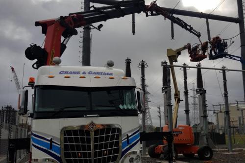 Lifting in substation at Otahuhu